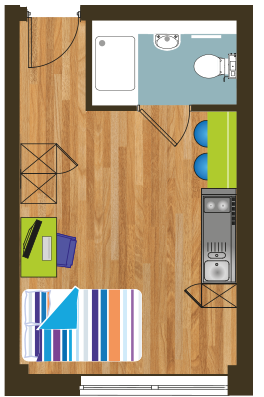 Floor layout Crown House