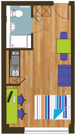 Crown House indicitive floor plan